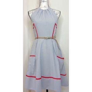 Jessica Simpson Pinstripe Halter Dress Size 6